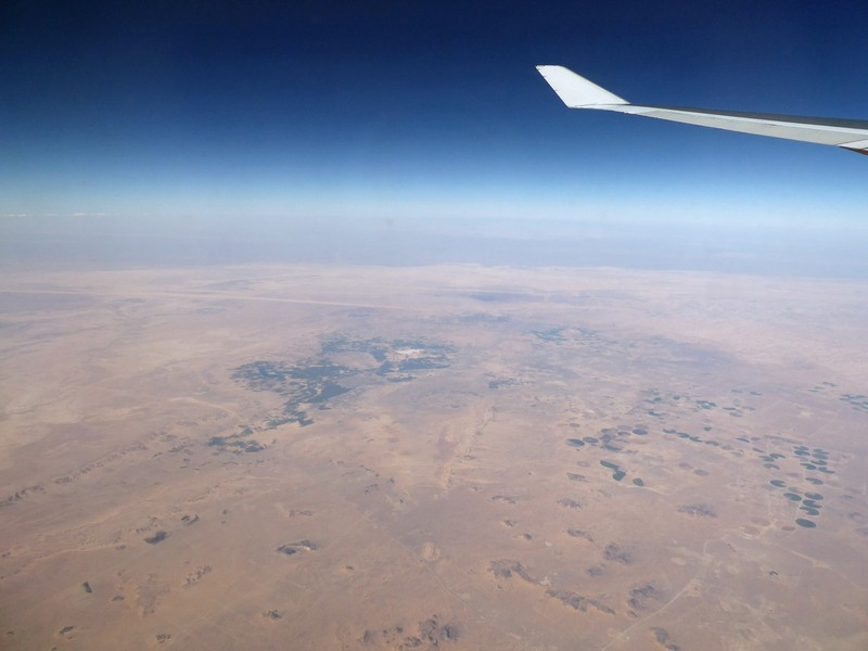 Somewhere over Africa