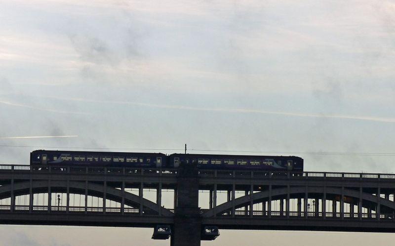 Train crossing the High Level Bridge - Newcastle upon Tyne