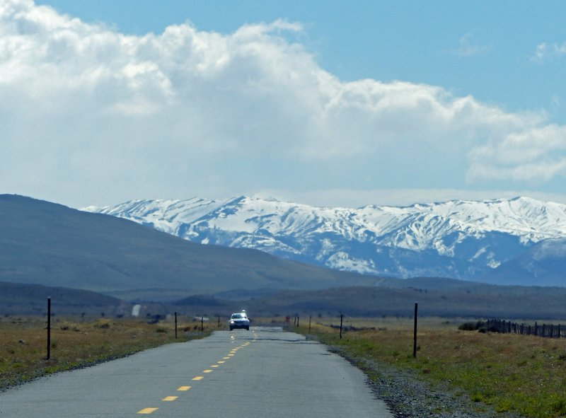 On the road to the Torres del Paine