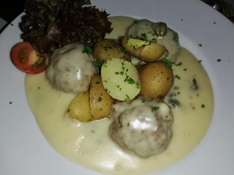 Meatballs at the Johann S, Leipzig