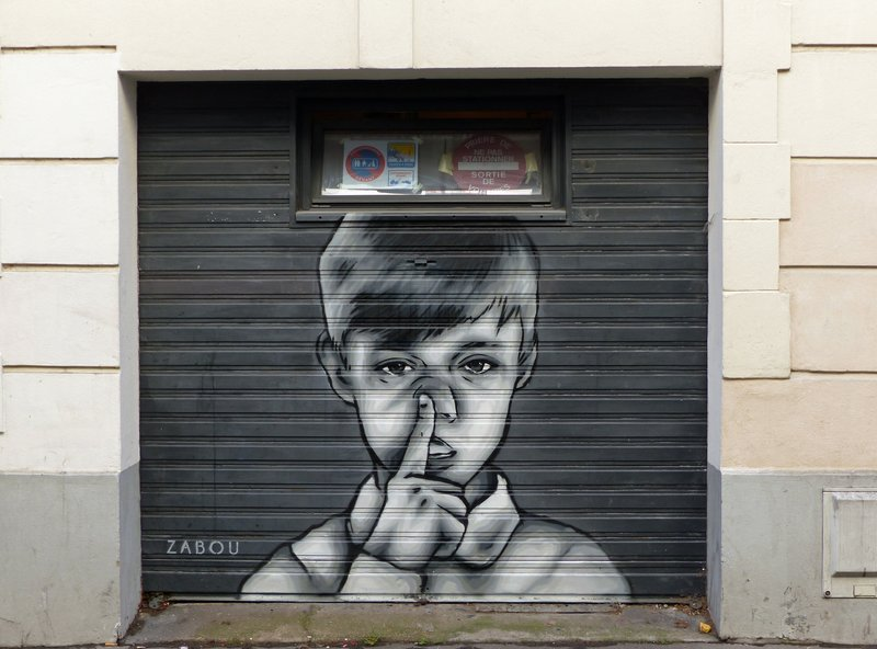 Street art in the Butte-aux-Cailles: Zabou