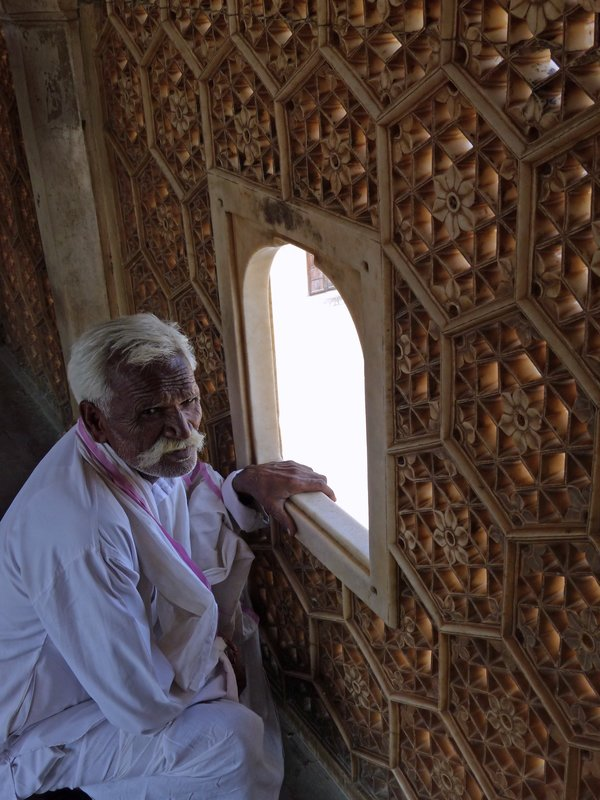 In the Suhag Mandir, Amber Fort