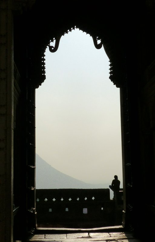 Looking out through Hathi Pol, Bundi Palace