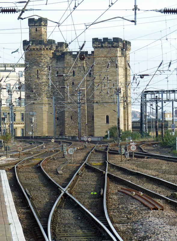 The Castle Keep, Newcastle, from the Central Station