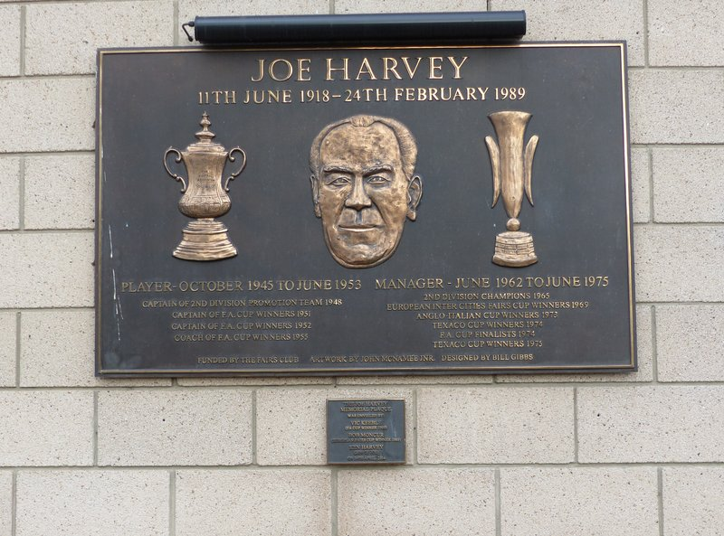 Joe Harvey memorial plaque, St James' Park, Newcastle