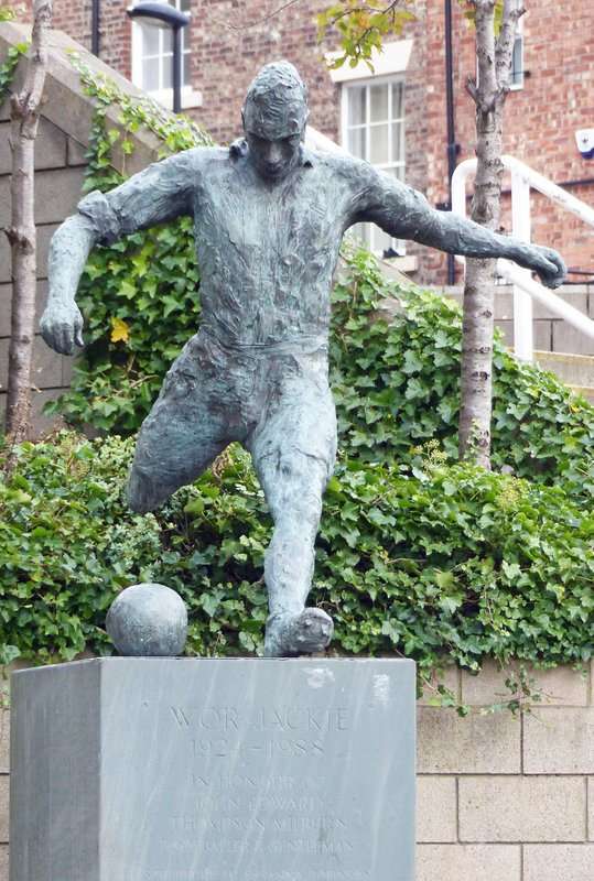 Statue of Jackie Milburn at St James' Park, Newcastle