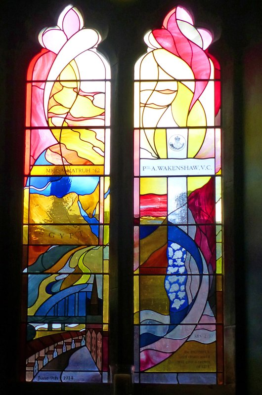 St Marys RC Cathedral - modern stained glass window