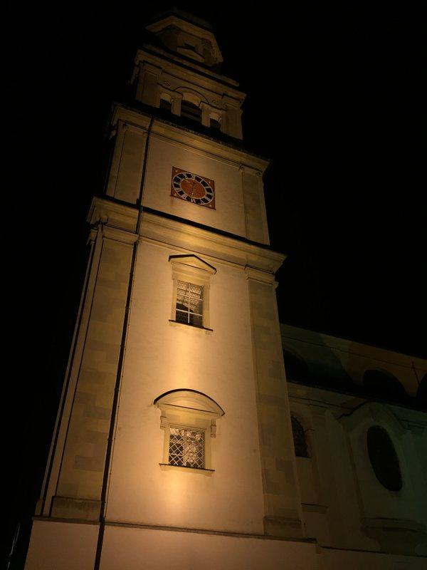 Basilica at night, Kempten