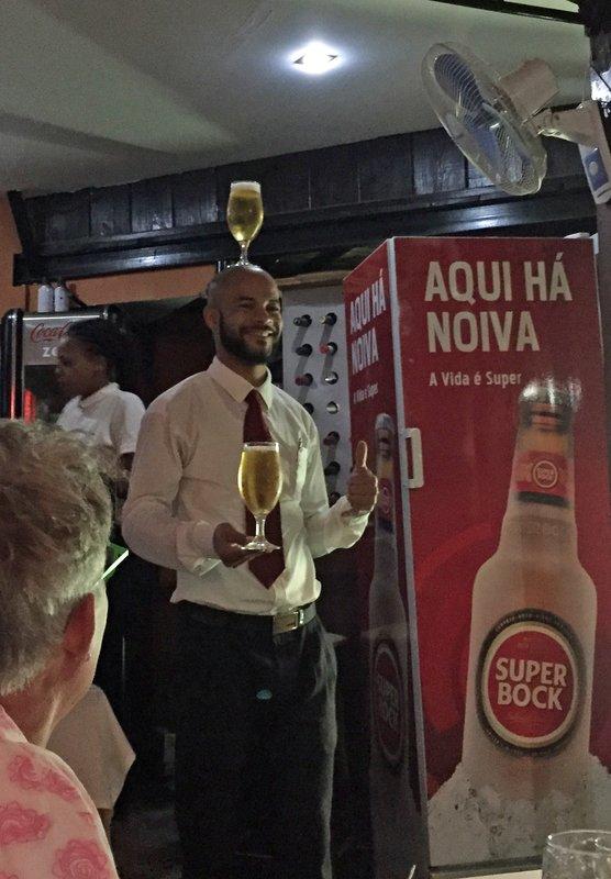 Waiter at Quintal de Musica, Praia