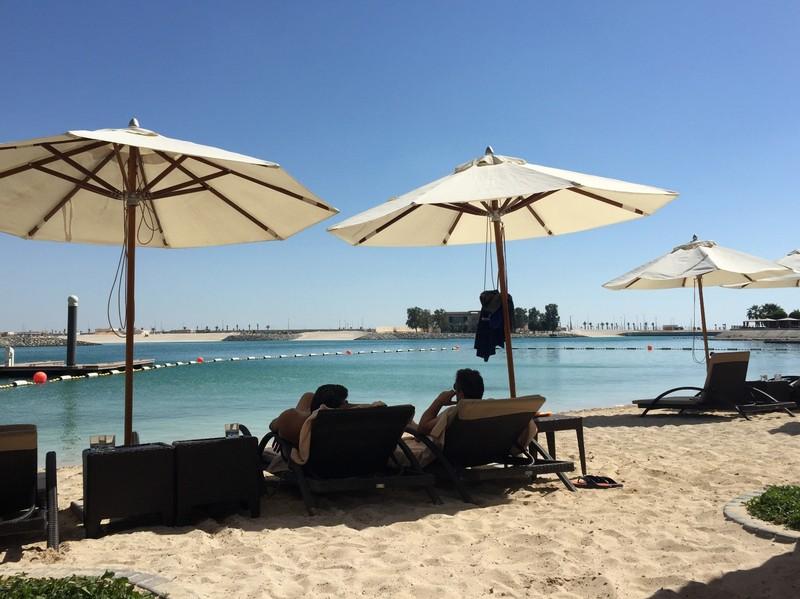 Beach at the Bab al Qasr hotel, Abu Dhabi