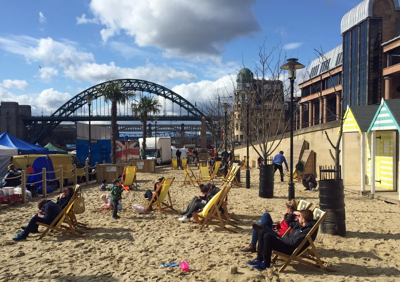 Quayside beach, Newcastle