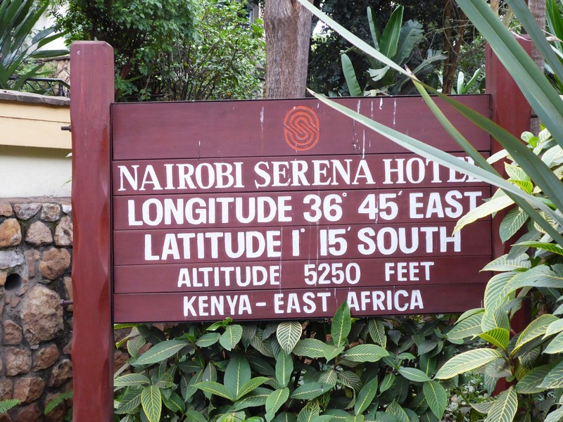 Sign at the Nairobi Serena Hotel