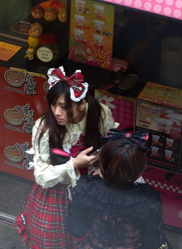 Young shoppers on Takeshita Dori