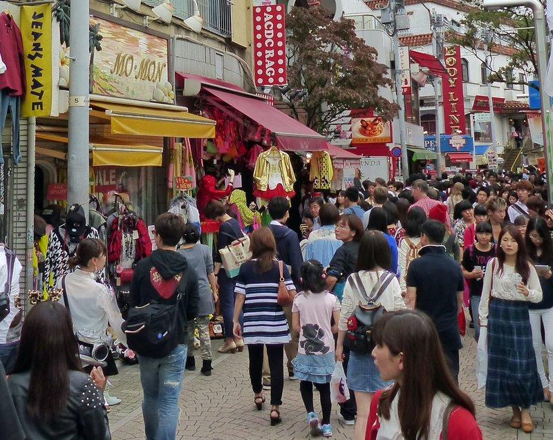 Crowds on Takeshita Dori