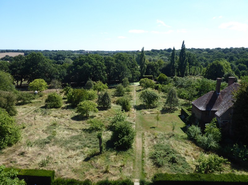 View of the orchard from the tower, Sissinghurst