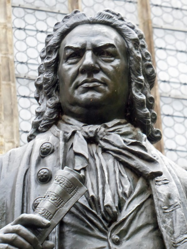 Statue of Bach at the Thomaskirche, Leipzig