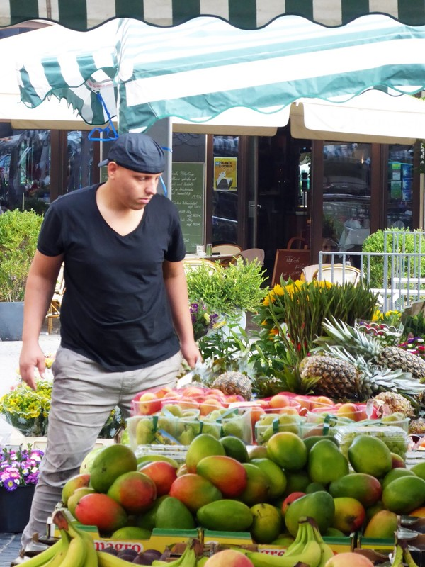 Market day in Leipzig