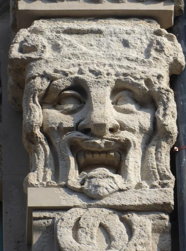 Detail of building on Grimmaische Strasse, Leipzig