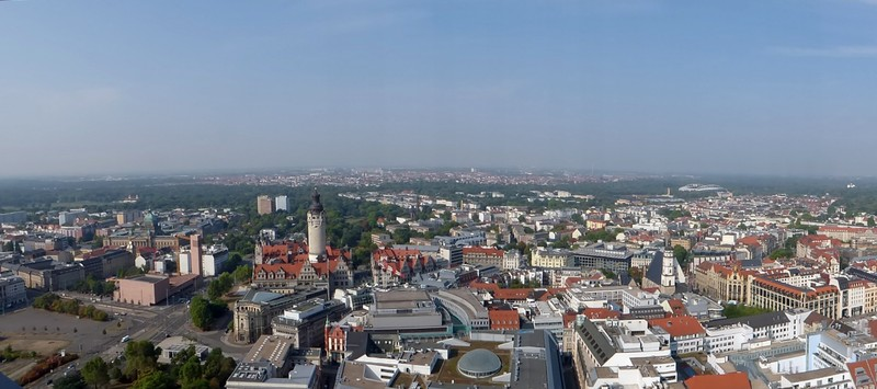 Panorama from the City-Hochhaus, Lepzig