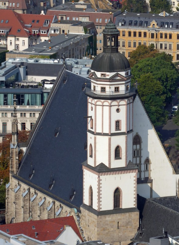 Thomaskirche from the City-Hochhaus, Lepzig