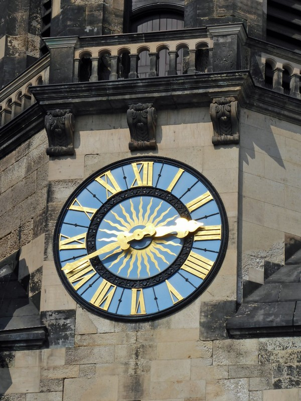 Clock on the the  Evangelical Reformed Church, Leipzig