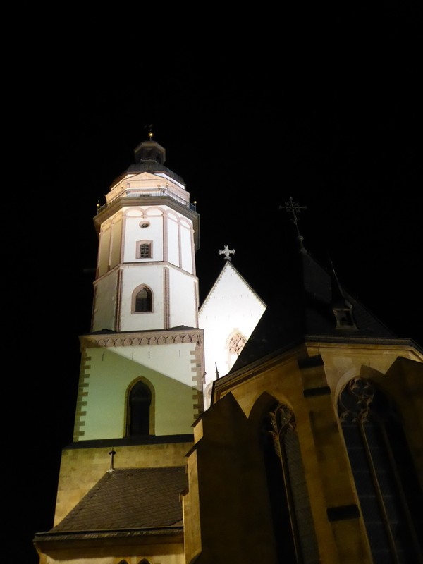Thomaskirche at night