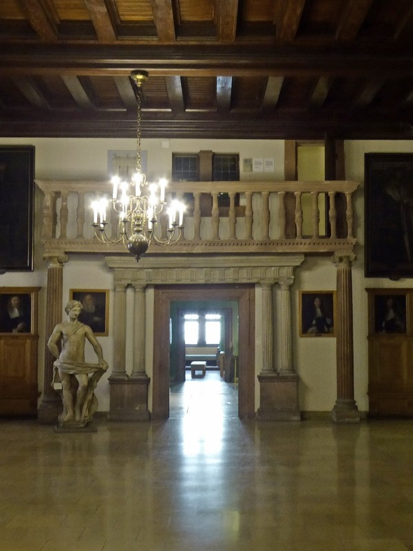 In the main hall of the Town Hall Museum, Leipzig