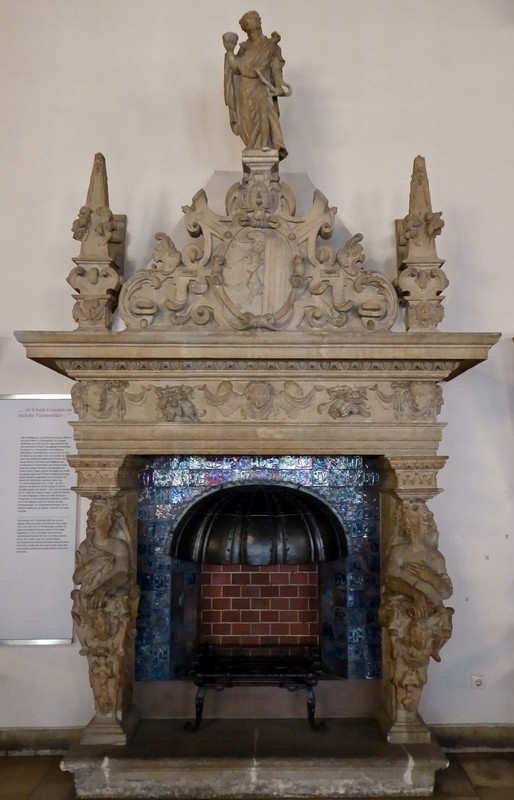 Fireplace in the Town Hall Museum, Leipzig