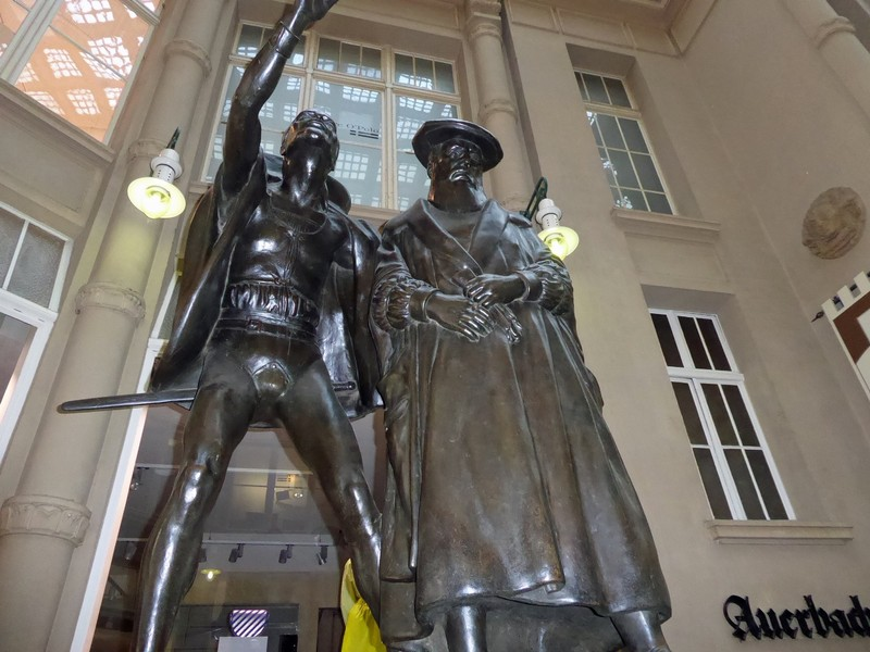 Statue of Mephistoles and Faust in the Mädlerpassage