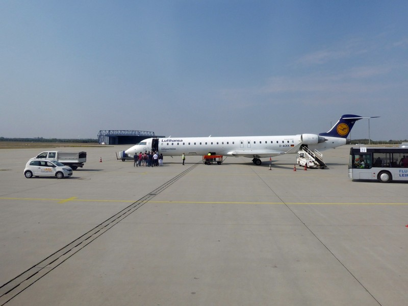 Bombadier at Leipzig-Halle Airport