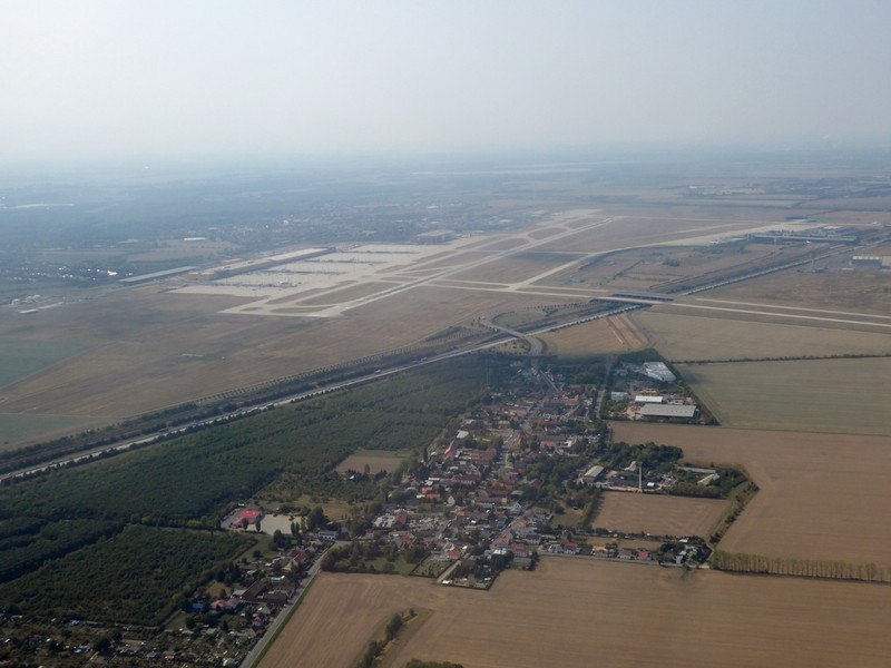 Taking off from Leipzig-Halle Airport