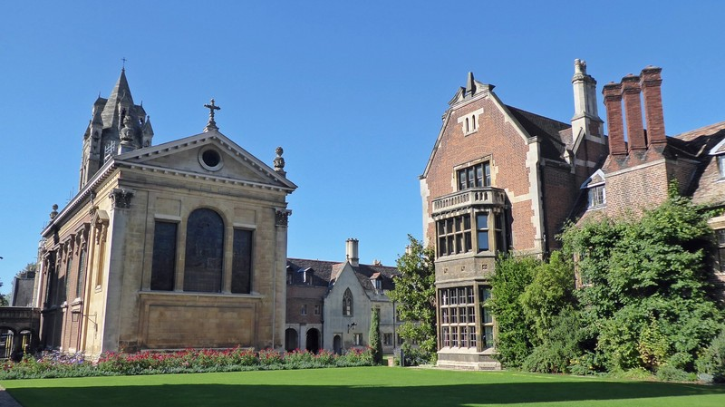 The chapel from Library Lawn, Pembroke College, Cambridge