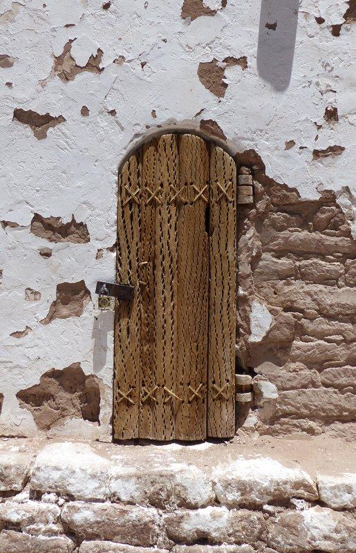 Church door, Toconao, Atacama Desert