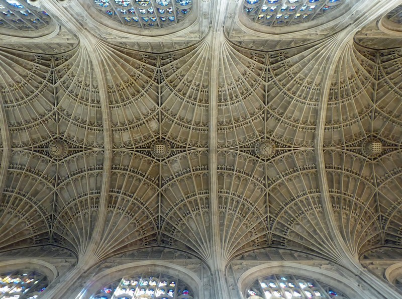 Fan vaulted ceiling, King's College Chapel, Cambridge