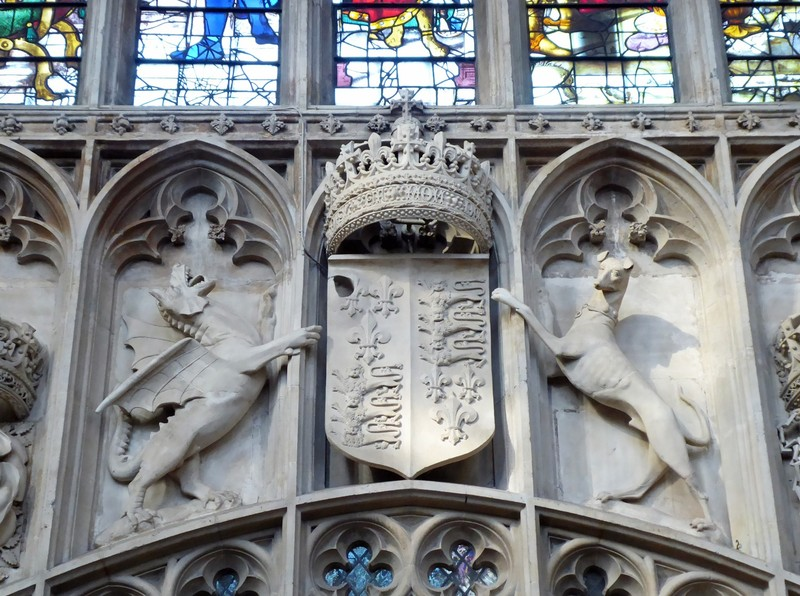 Arms of Henry VIII, King's College Chapel, Cambridge