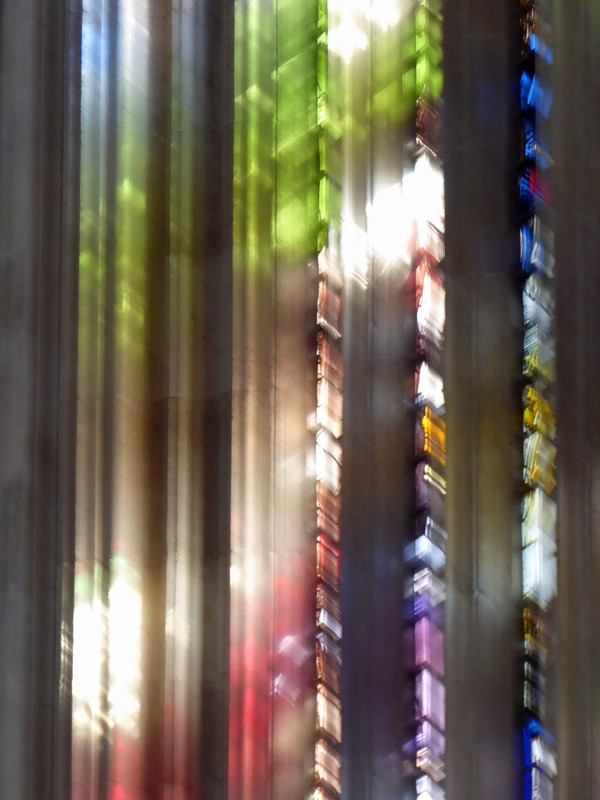 Stained glass window, King's College Chapel, Cambridge