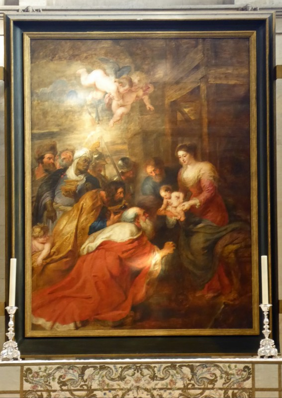 Adoration of the Magi by Rubens, King's College Chapel, Cambridge