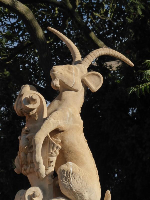 Goat statue, Wren Bridge, St John's College, Cambridge