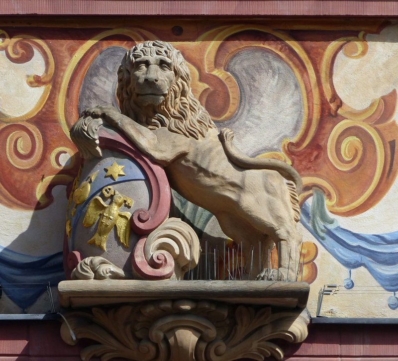 Building detail, Marktplatz, Mainz