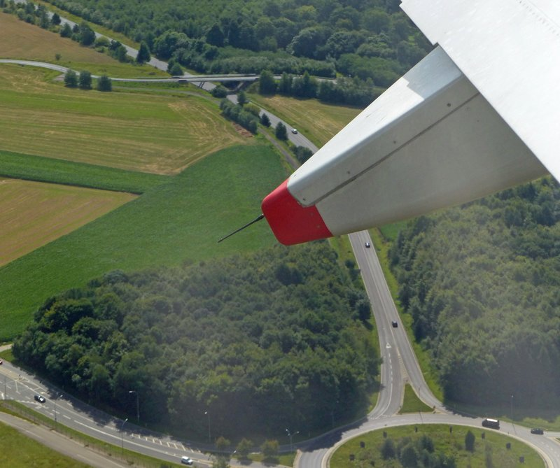 Taking off from Luxembourg Airport