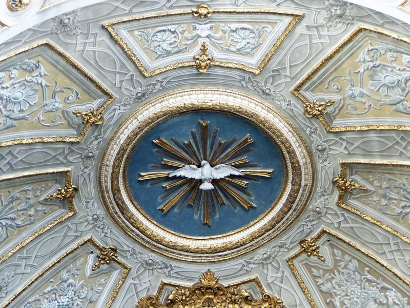 Ceiling detail, San Michele Archangelo, Arpino