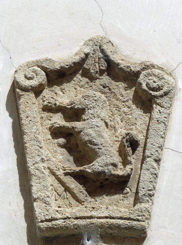 Building detail in Falconara, Arpino