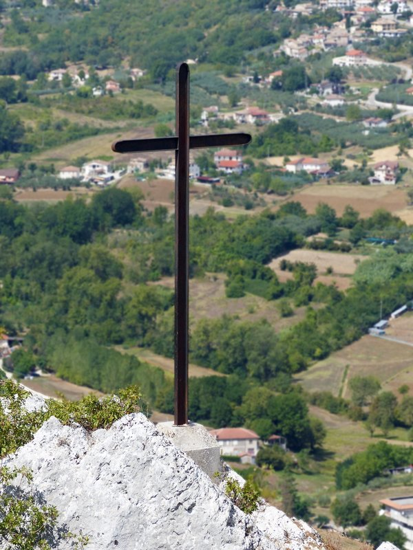 View from the cross, Via Caio Mario, Arpino