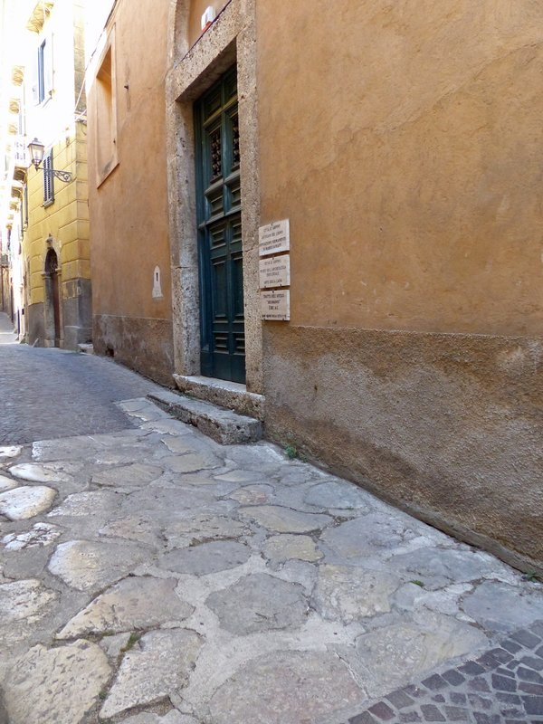 Stretch of Roman road in Arpino