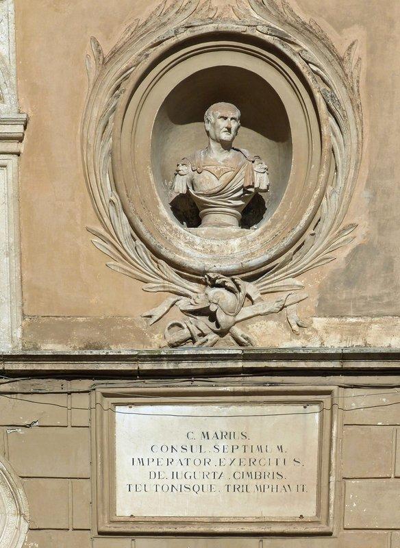 Bust of Caius Marius on the Tulliano, Piazza Municipio, Arpino