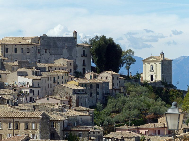 View from the via Civitavecchia, Arpino