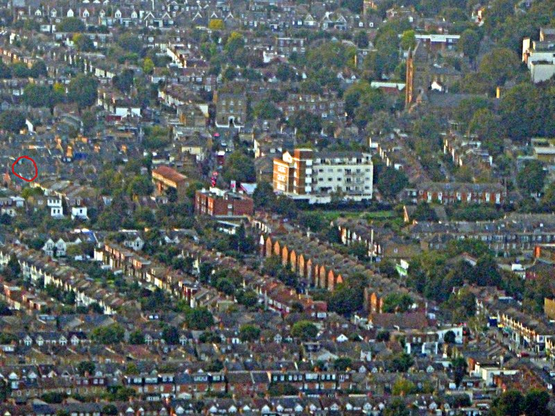 Flying over Ealing