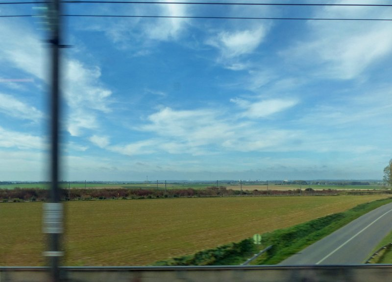 View from a train, somewhere in northern France