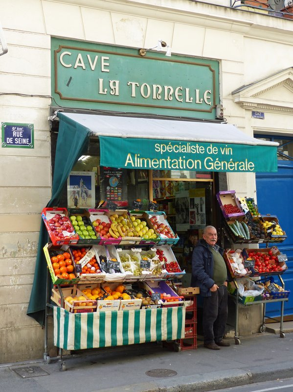 Shop in the Rue de Seine