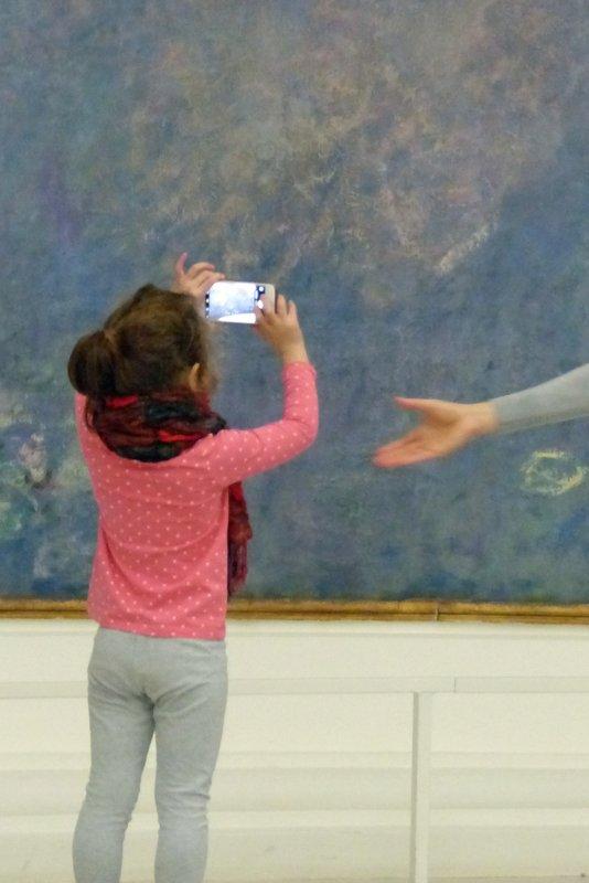 In the Musée de l'Orangerie - Monet's Waterlilies